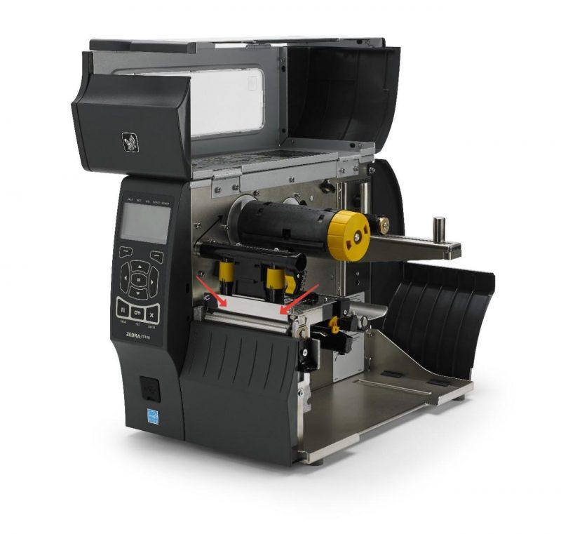 Размещение термоголовки на принтере Zebra ZT410